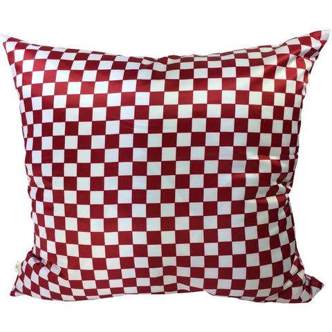 Checkers Decorative Pillow Covers Collection Red-White, Square Set of 2. - It's All About An Idea