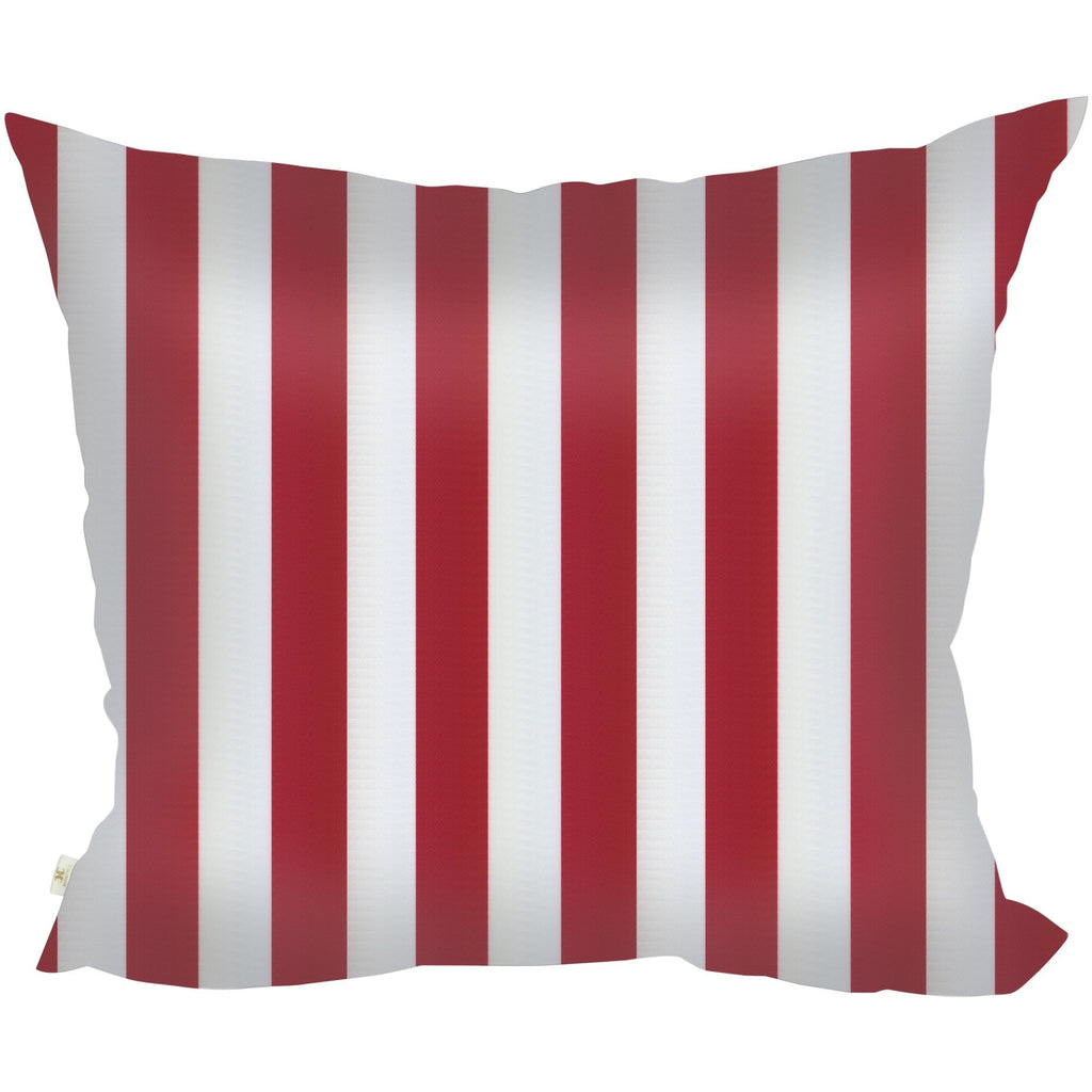 StripSpring Decorative Pillow Covers Collection Red-White, Square Set of 2. - It's All About An Idea