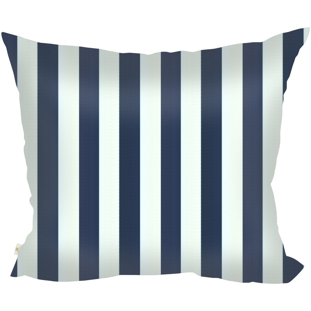 StripSpring Decorative Pillow Covers Collection Navy-White, Square Set of 2. - It's All About An Idea