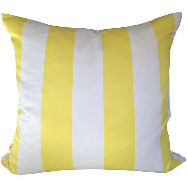 SatiSpring Decorative Pillow Covers Collection Yellow-White, Square Set of 2. - It's All About An Idea