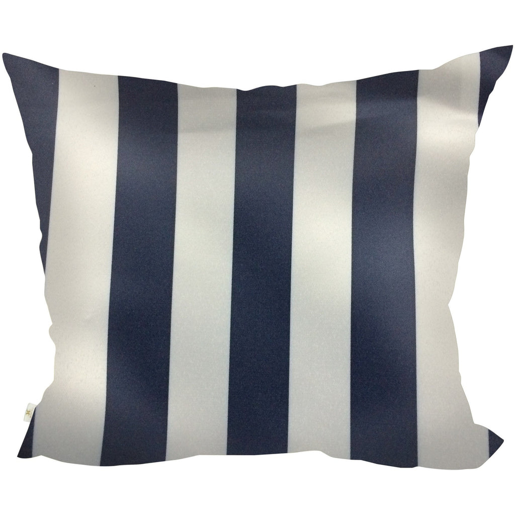 SatiSpring Decorative Pillow Covers Collection Navy-White, Square Set of 2. - It's All About An Idea