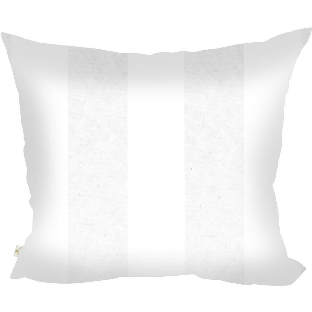 StripCotton Decorative Pillow Covers Collection White, Square Set of 2. - It's All About An Idea