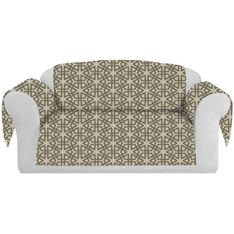 Geom Decorative Sofa / Couch Covers Collection Mocha. - It's All About An Idea