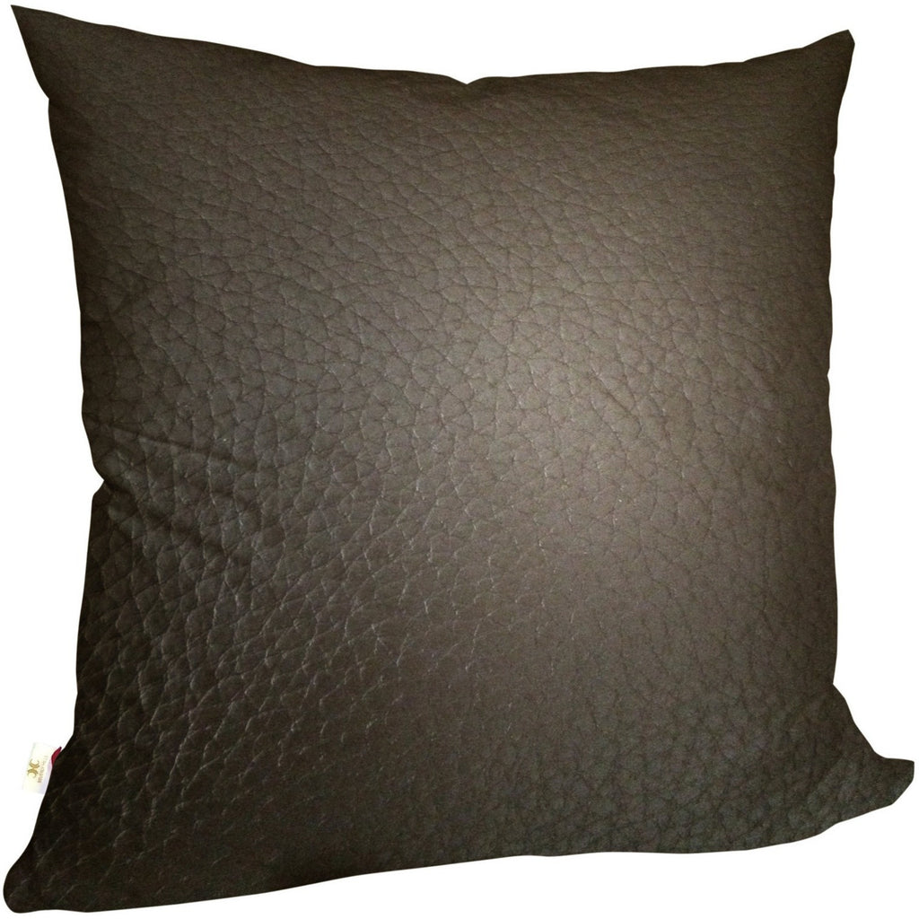 Faux LeatherExotica Decorative Pillow Covers Collection Chocolate, Square Set of 2. - It's All About An Idea