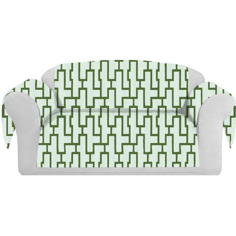 Blocc Decorative Sofa / Couch Covers Collection White-Green. - It's All About An Idea