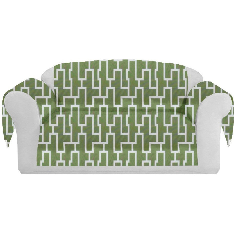 Blocc Decorative Sofa / Couch Covers Collection Green-White. - It's All About An Idea