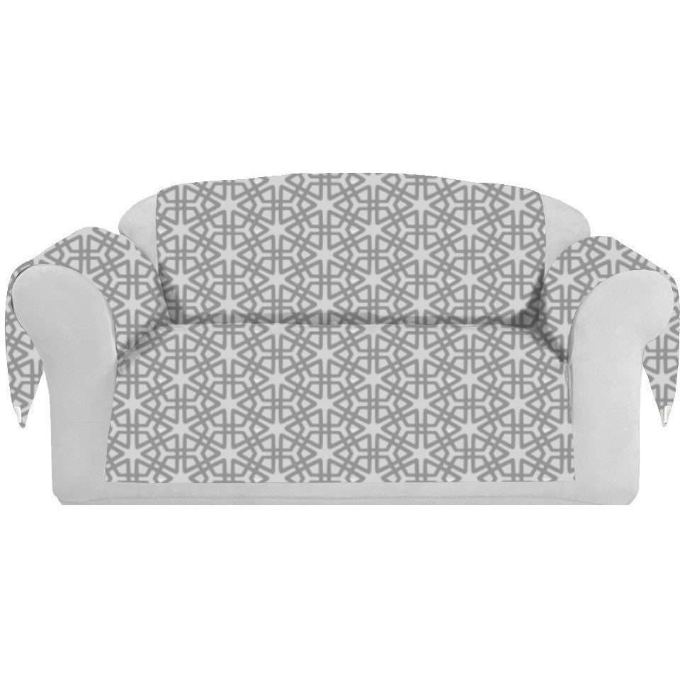 Geom Decorative Sofa / Couch Covers Collection Silver. - It's All About An Idea