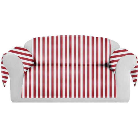 StripSpring Decorative Sofa / Couch Covers Collection Red-White. - It's All About An Idea