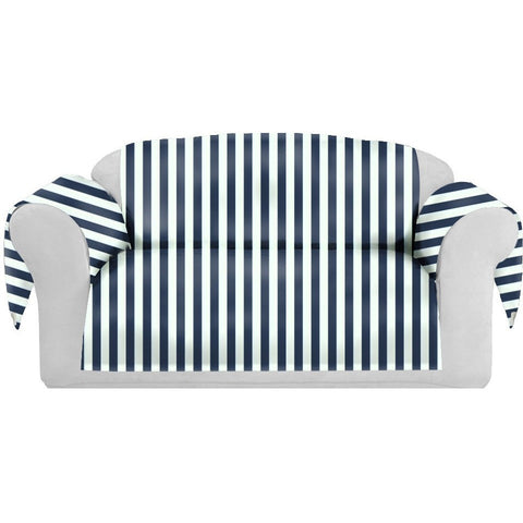 StripSpring Decorative Sofa / Couch Covers Collection Navy-White. - It's All About An Idea
