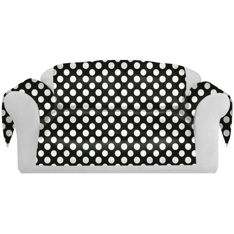 PolkaDots Decorative Sofa / Couch Covers Collection Black-White. - It's All About An Idea