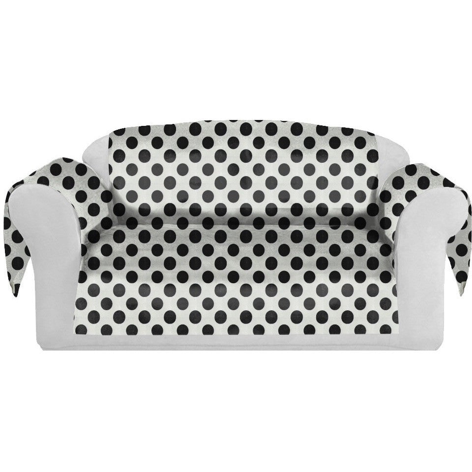 PolkaDots Decorative Sofa / Couch Covers Collection White-Black. - It's All About An Idea
