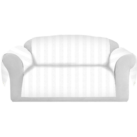 StripCotton Decorative Sofa / Couch Covers Collection White. - It's All About An Idea