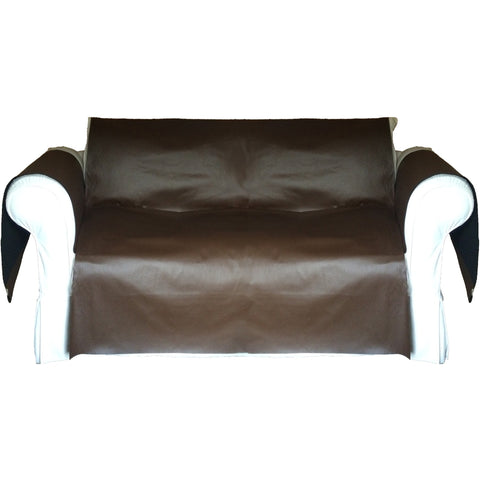 Faux LeatherExotica Decorative Sofa / Couch Covers Collection Chocolate. - It's All About An Idea