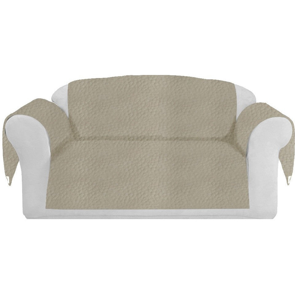 Faux LeatherExotica Decorative Sofa / Couch Covers Collection Ivory. - It's All About An Idea