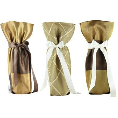 ELEGANCE Collection Wine/ Champagne Gift Bag One Size 3/Pack - It's All About An Idea