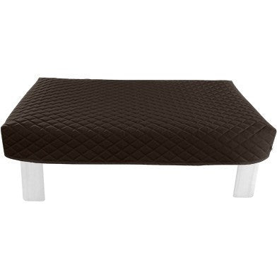 Rectangular Brown Diamond Pouf Coffee-Table Cover - It's All About An Idea