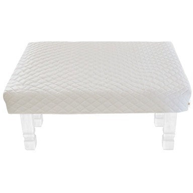 Square White Diamond Pouf Coffee-Table Cover - It's All About An Idea