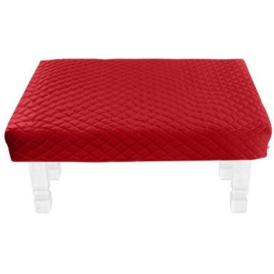 Square Red Diamond Pouf Coffee-Table Cover - It's All About An Idea