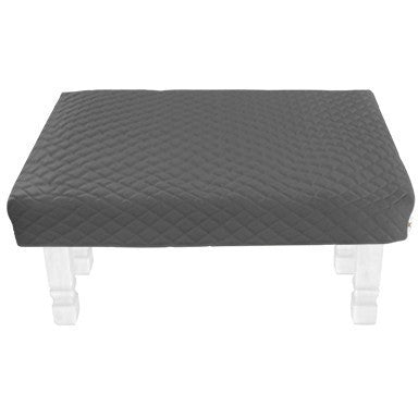 Square Gray Diamond Pouf Coffee-Table Cover - It's All About An Idea