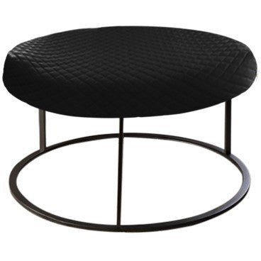Round Black Diamond Pouf Coffee-Table Cover - It's All About An Idea