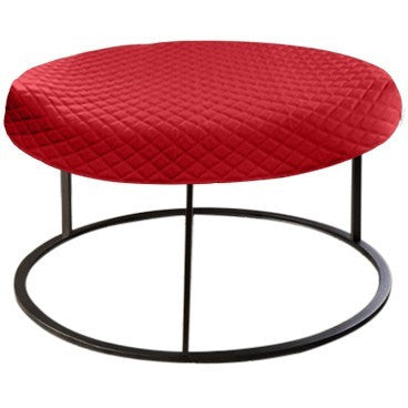 Round Red Diamond Pouf Coffee-Table Cover - It's All About An Idea