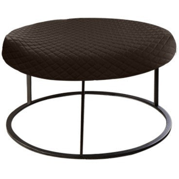 Round Brown Diamond Pouf Coffee-Table Cover - It's All About An Idea