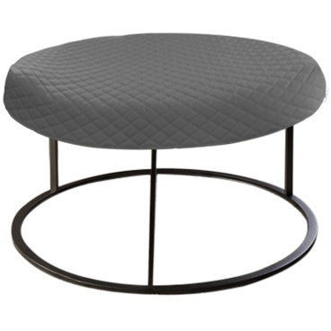 Round Gray Diamond Pouf Coffee-Table Cover - It's All About An Idea