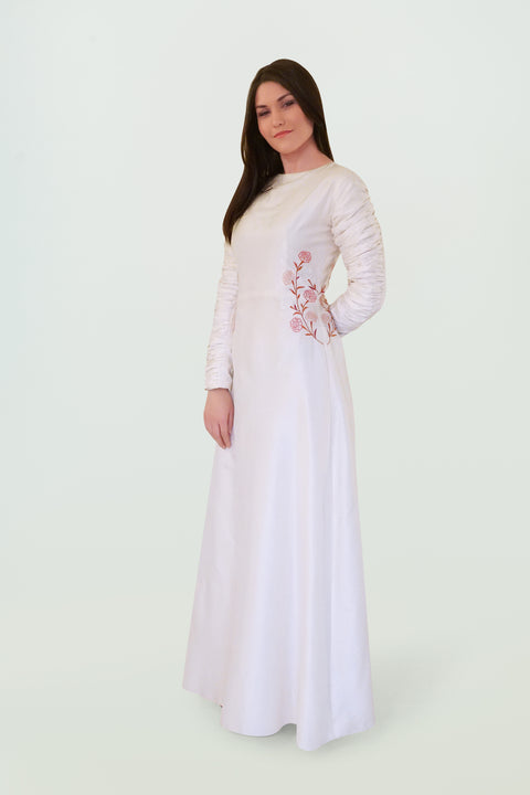 Embroidered Hand Weaved Wedding Gown