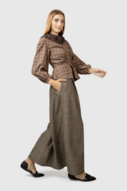 Wide Leg High Waist Pant - AGAATI