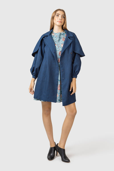 Trench Coat layered with Cape - AGAATI