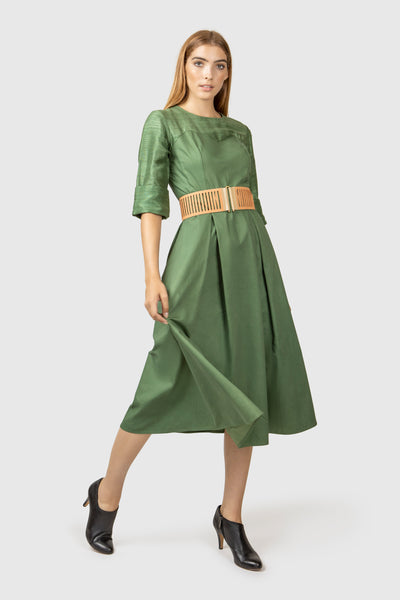 Organic Cotton Midi Dress - AGAATI