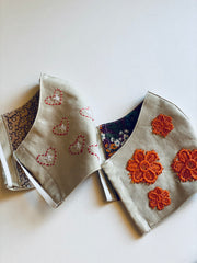 Hand Embroidered Washable Masks