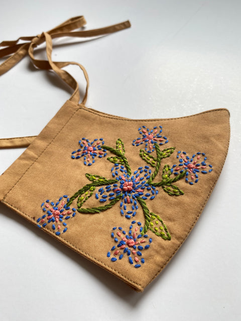 Hand Embroidered Cotton Masks - AGAATI