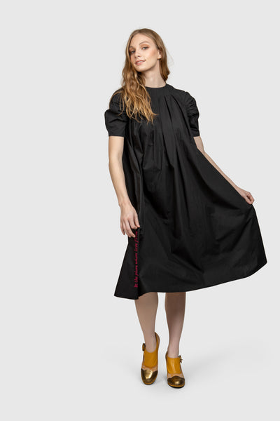 Supima Cotton Knee Length Dress - AGAATI
