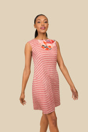 Stripe Cotton Dress - AGAATI