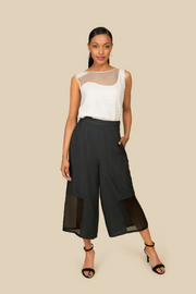 White Cotton Sleeveless Top - AGAATI