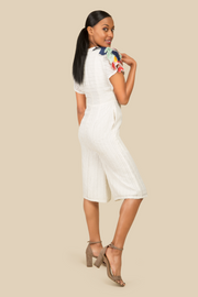 Cropped Cotton Jumpsuit