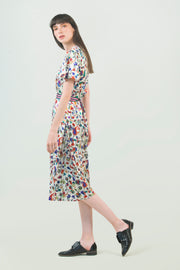 Screen Printed Midi Dress - AGAATI