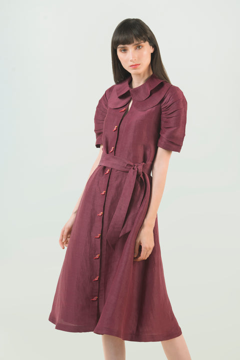 Hemp Silk Midi Dress