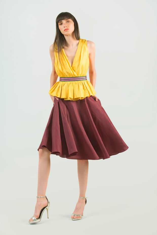 Hemp Silk Circle Skirt