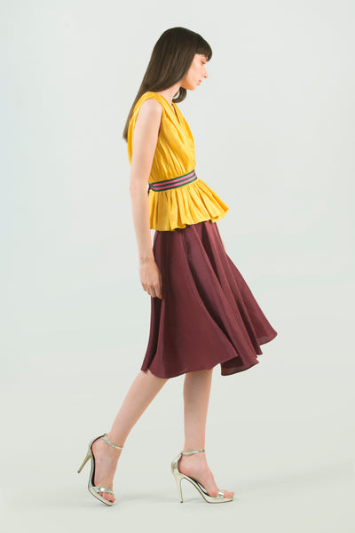 Hemp Silk Circle Skirt - AGAATI