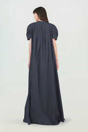 Supima Cotton Long Black Dress - AGAATI