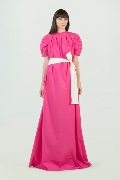 Pink Cotton Dress - AGAATI