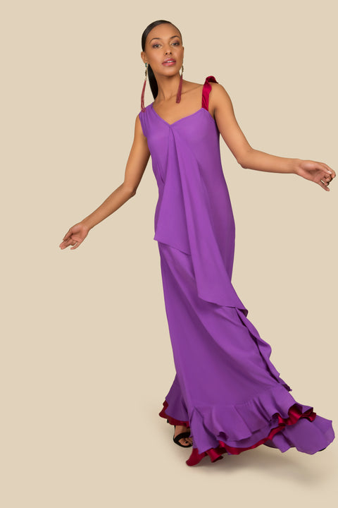 Agaati long evening dress - front 2