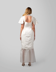 Hand Embroidered Wedding Dress - AGAATI