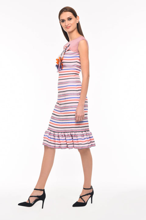 Agaati Multicolor Fitted Printed Dress - Side