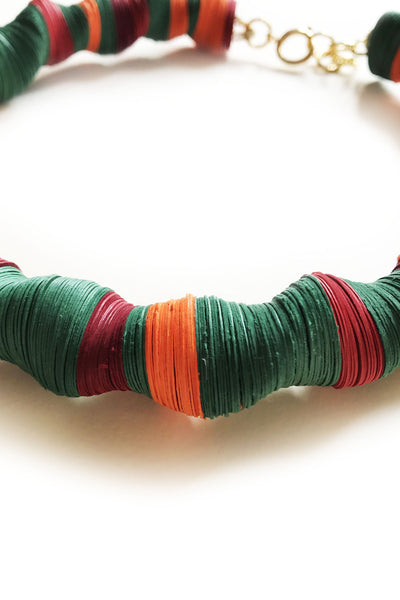 Handmade Paper Necklace - AGAATI