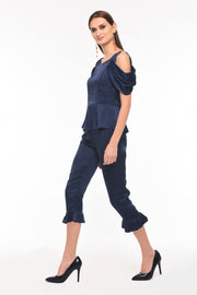 Agaati Cropped Silk Pant - Side