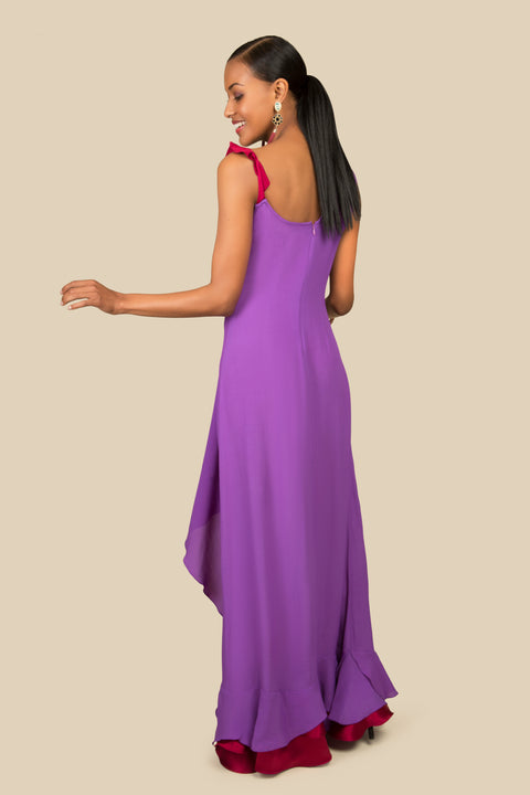 Agaati long evening dress - Back