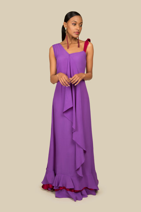 Agaati long evening dress - front 3